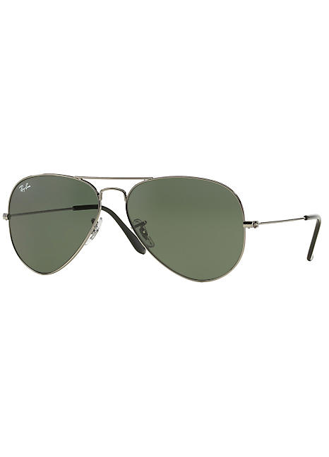 7f02f8b007ac6 Ray-Ban® Aviator Grey Green Lens Mens Sunglasses by Rayban